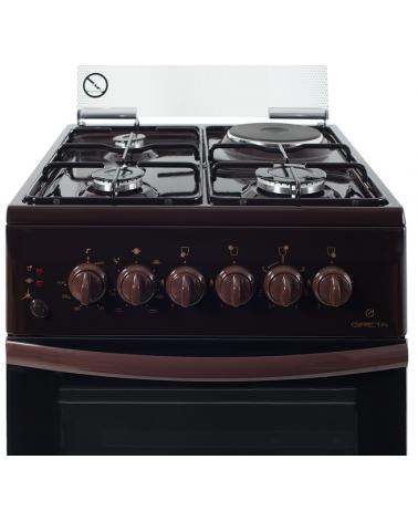 Комбинированная плита Greta 1470-ГЭ-00 (BN)